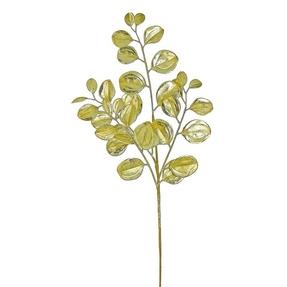 """Metallic Shimmer Leaf Spray 29"""" Set of 12 Gold"""