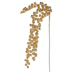 """Weeping Berry Spray 37"""" Set of 12 Gold"""