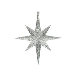 "Medium Christmas Glitter Star 12"" Set of 2 Champagne"