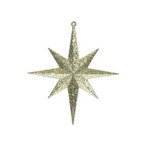 "Medium Christmas Glitter Star 12"" Set of 2 Gold"