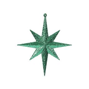 "Large Christmas Glitter Star 15.75"" Set of 2 Green"