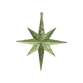 "Small Christmas Glitter Star 8"" Set of 4 Lime"
