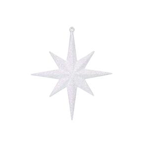 """Medium Christmas Glitter Star 12"""" Set of 2 White"""