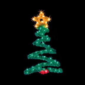 Christmas Tree Pole Mount 4'