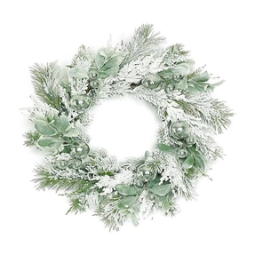 Snow Shimmer Wreath 22""