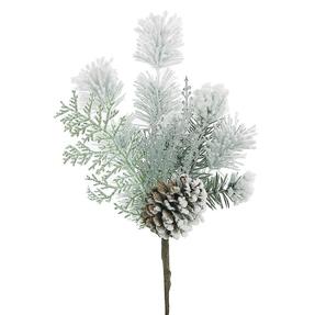 "Snowy Pine Pick 13"" Set of 3"
