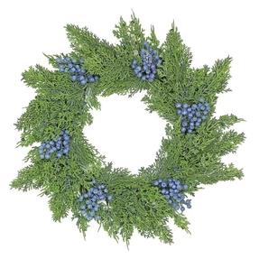 "Blueberry Cedar Wreath 22"""