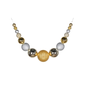 "Zoe Ball Garland 76"" Gold/Silver/Champagne"