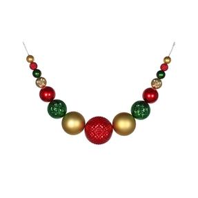 """Zoe Ball Garland 76"""" Red/Gold/Green"""