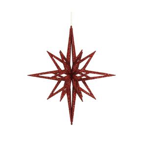 """Bethlehem Glitter Star 32"""" Red"""