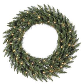 8' Camdon Fir Wreath LED