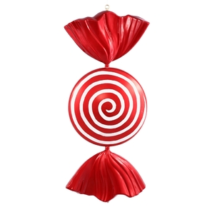"""Spiral Candy Ornament 37"""""""