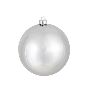 "Silver Ball Ornaments 2.75"" Shiny Set of 12"