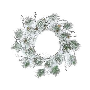 """Snowy Vermont Pine Wreath 24"""""""