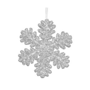 """Sparkle Snowflake 9"""" Set of 2 Silver"""