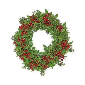 """Holiday Boxwood Wreath 24"""""""
